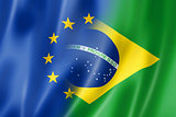 Europe and Brazil flag