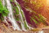 Waterfall in deep forest near.