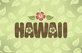 Vector illustration of Hawaii in vintage colors