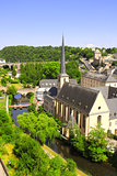 Commune and town Larochette in central Luxembourg, canton of Mer