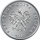 obverse Polish Money one zloty coin