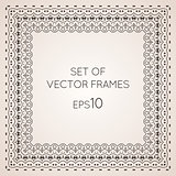 Set intricate vector frames