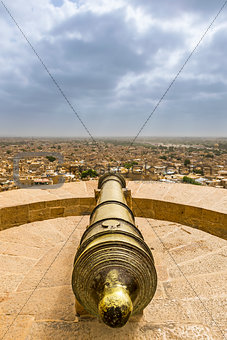 Cannon point at Jaisalmer Fort, Rajasthan, India