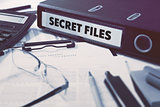 Office folder with inscription Secret Files.