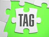 Tag - Jigsaw Puzzle with Missing Pieces.