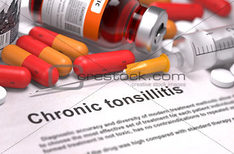 Chronic Tonsillitis Diagnosis. Medical Concept.
