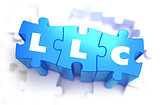 LLC - White Word on Blue Puzzles.