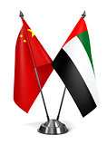 China, United Arab Emirates - Miniature Flags.