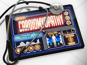 Cardiomyopathy on the Display of Medical Tablet.