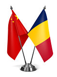 China and Chad - Miniature Flags.