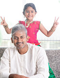 Cute girl and father