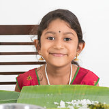 Indian girl dining