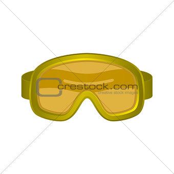 Ski sport goggles in orange design