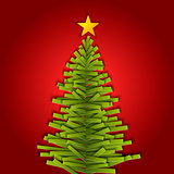 Green paper vector Christmas tree
