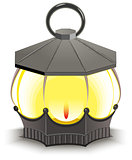 Vintage Street Lamp. Glowing lantern