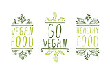 Vegan product labels.