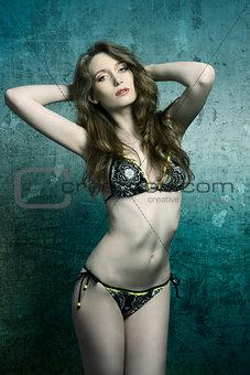 sexy model in bikini