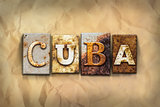 Cuba Concept Rusted Metal Type