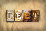 Debt Concept Rusted Metal Type