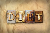 Diet Concept Rusted Metal Type