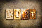 Diet Concept Letterpress Leather Theme