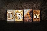 Draw Letterpress Concept on Dark Background