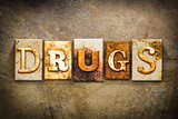Drugs Concept Letterpress Leather Theme