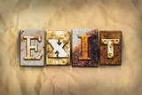 Exit Concept Rusted Metal Type