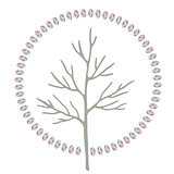 Abstract stylized round art tree