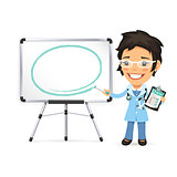 Female Doctor With Marker in Front of the Whiteboard