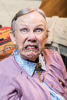 Old Woman Making a Face