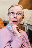 Surprised Old Woman