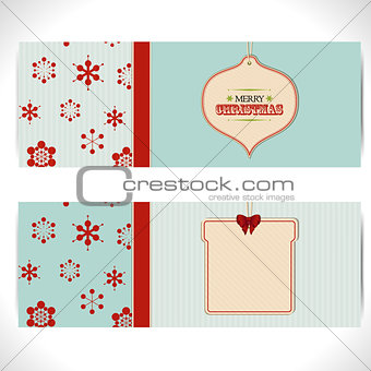 Christmas banner background with tags