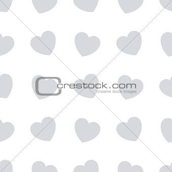 Gray hearts seamless bakground pattern