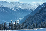 Winter mountain landscape. Kappl ski resort, Austria.