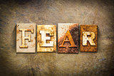 Fear Concept Letterpress Leather Theme