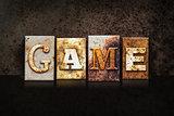 Game Letterpress Concept on Dark Background