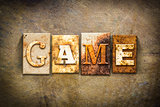 Game Concept Letterpress Leather Theme