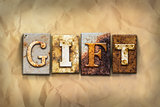 Gift Concept Rusted Metal Type
