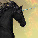 Black Friesian Unicorn