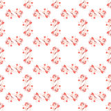 Abstract rose seamless pattern