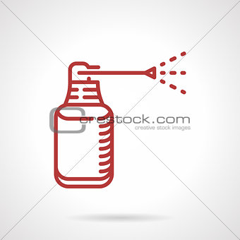 Anesthetic spray red line vector icon