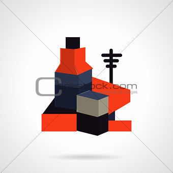 Power plant vector icon