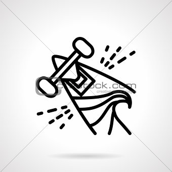 Abstract vector icon for summer sport