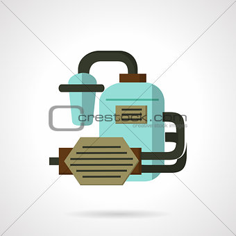 Flat vector icon for water supply