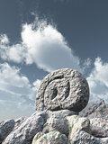 stone email symbol