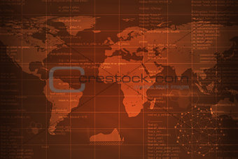 Abstract background with world map and graphs