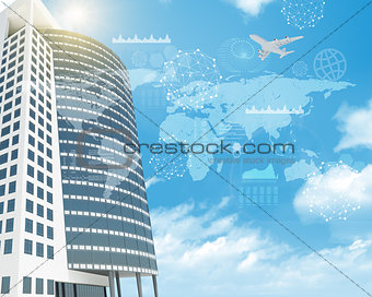 Skyscraper with graphs