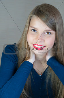Portrait of beautiful teenage girl