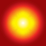 Red shiny starburst halftone background